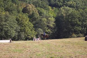 Le terrain de cross du club d'équitation la Clairière du Findez, 0 Francheville, dans l'ouest lyonnais